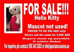 Hello Kitty Mascot for sale